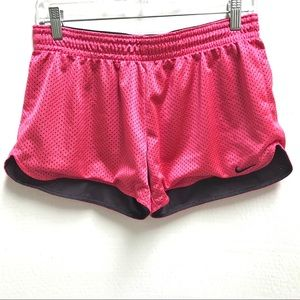 EUC Hot Pink & Black Nike DriFit Running Shorts-M